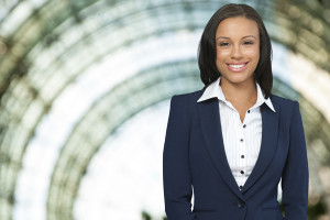 Young happy African American business woman-nonprofit executive